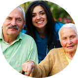 caregiver and seniors